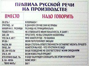 Правила русской речи на производстве) | uDuba.com