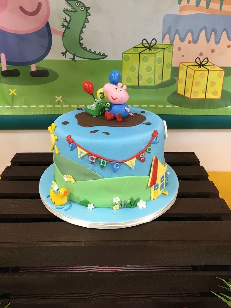 George And Dinosaur Peppa Pig Cake. #sweetcakesbydari #peppapig #Peppapigcake #georgepeppapig #georgepeppapigcake