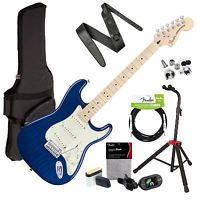 Fender Deluxe Stratocaster - Sapphire Blue Transparent STAGE PAK