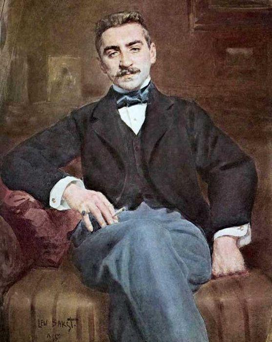 Леон Бакст. Портрет Вальтера Федоровича Нувеля, 1895 (557x700, 311Kb)