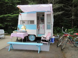 cuteness!! an 8-foot trailer named 'Jewel.' (from the blog Flutter Before You: Vintage Trailer Rally Weekend)