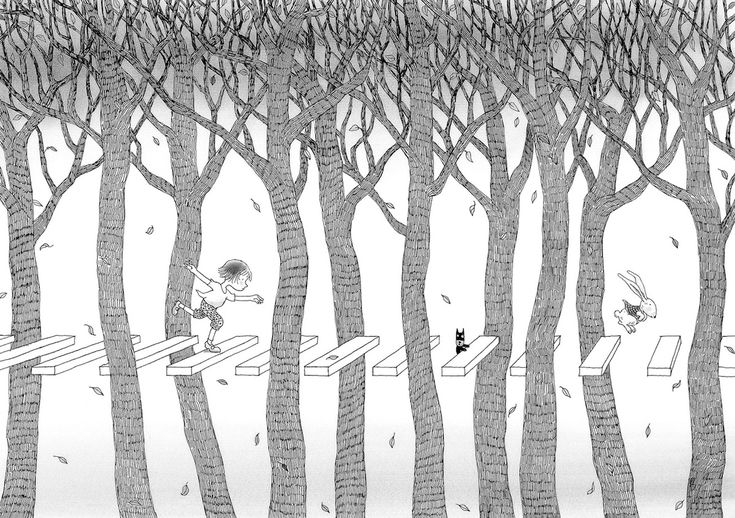 Illustration from 'Secrets in the Woods' by Jimmy Liao