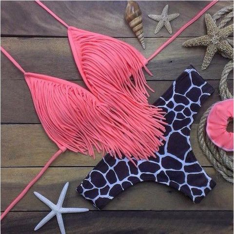 Retro Fringe Triangular Women Bikini Set | Daisy Dress for Less | Women's Dresses & Accessories