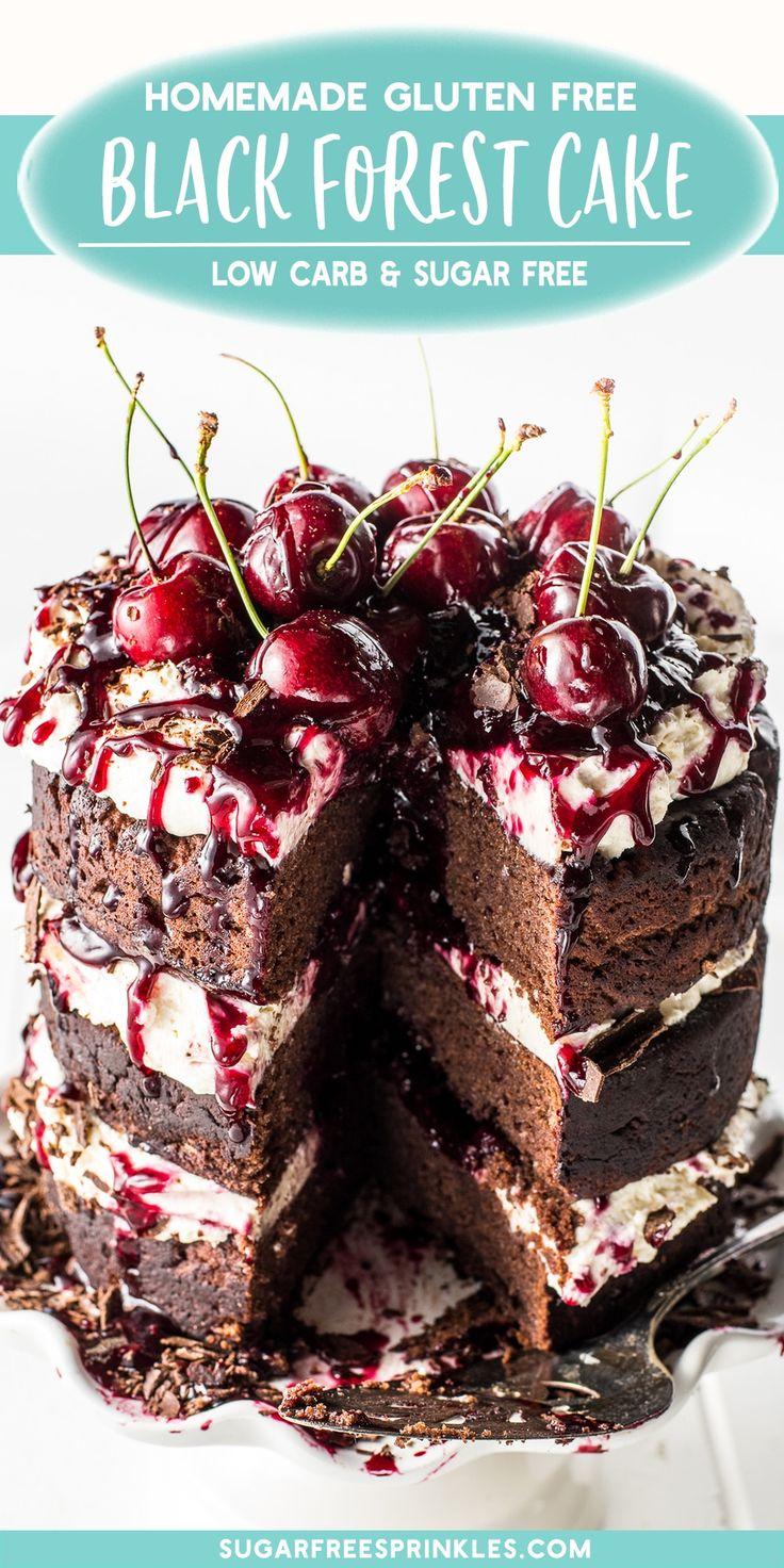 A dark chocolate black forest cake with gooey cherry