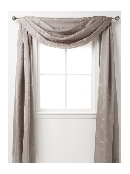 love the idea of a valance like this in an accent color over different color curtains