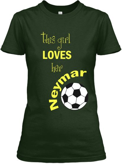 Buy this Limited Edition Women's 'This Girl Loves her Neymar' T-Shirt today for only $19.99