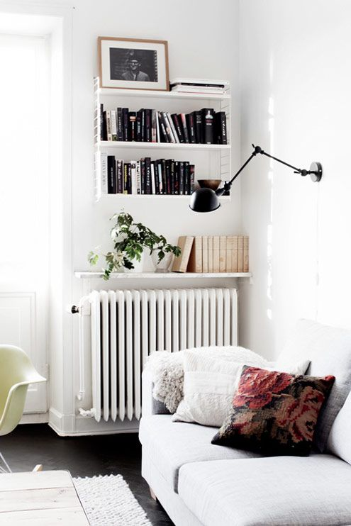 wall mounted lamp (when there's no room for a table)
