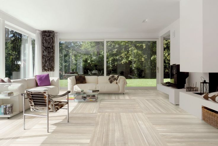 Superior Using Large Format Tiles And A Matching Grout Colour Like This. Flooring Living  Room ...