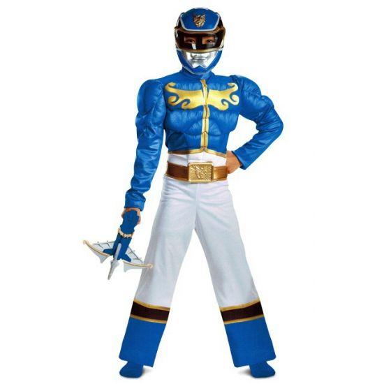 Gespiederde Ranger kostuum blauw voor jongens. Ga verkleed als een Power Ranger met dit gave kostuum! Bestaat uit een jumpsuit en masker. Geschikt voor kinderen.