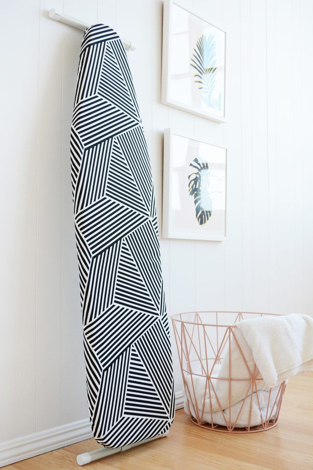 Tired of sad, boring ironing board covers the big box stores sell? Well, you can make your own custom cover to go perfectly with any decor or color scheme.