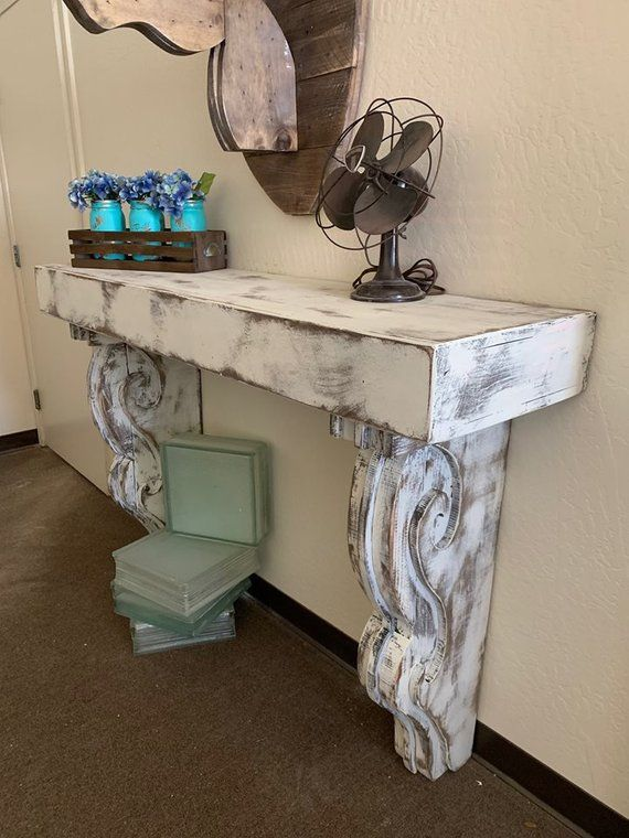 Vintage Entry Table With Large Corbels Large Corbels Hall Etsy