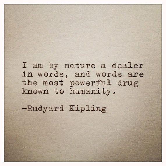 Rudyard Kipling Quote Typed on Typewriter by WhiteCellarDoor, $8.00