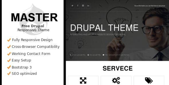 Master - Drupal Responsive Theme - Themesnap