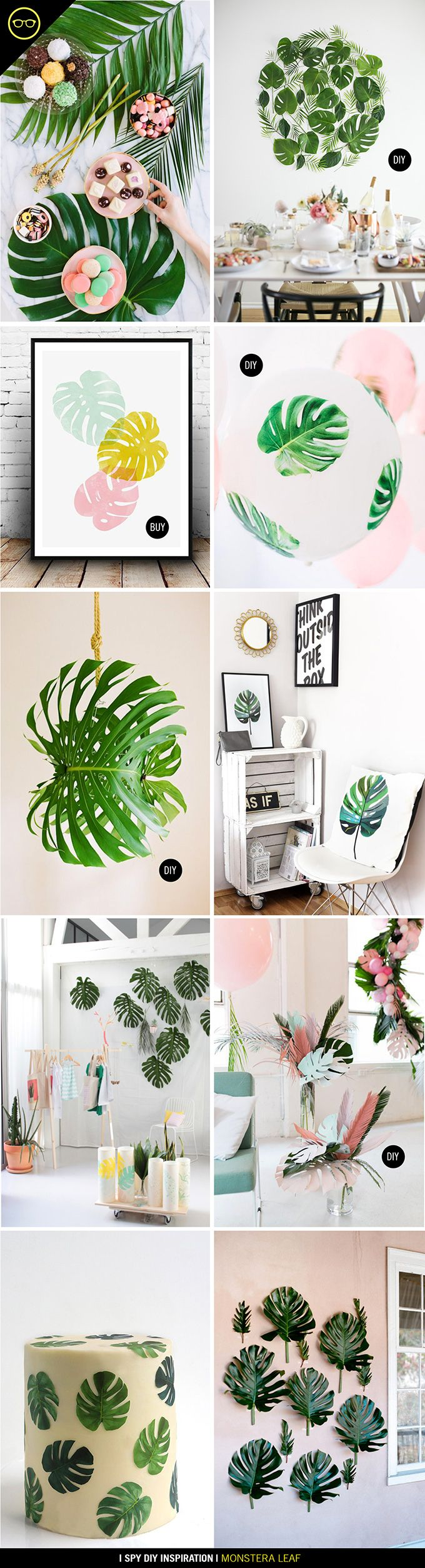DIY INSPIRATION | Monstera leaves - love these big, beautiful leaves for spring!
