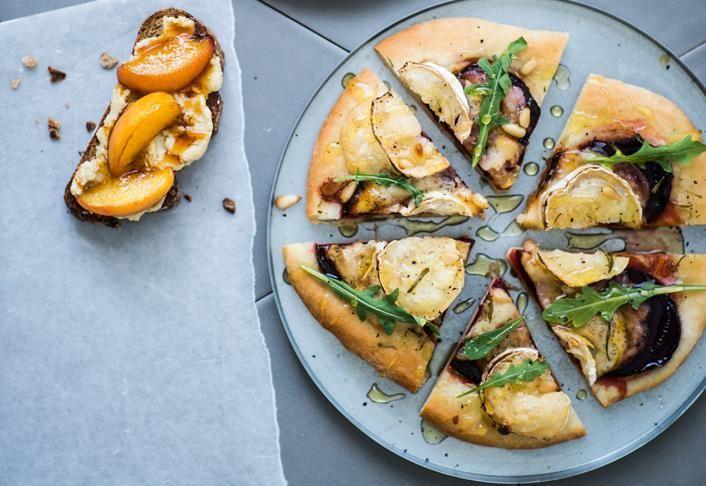 Hunajaiset vuohenjuusto-punajuuripizzat   Koti ja keittiö