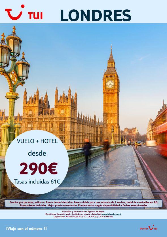 Viaja a #Londres en #Enero con vuelo y hotel desde 290€