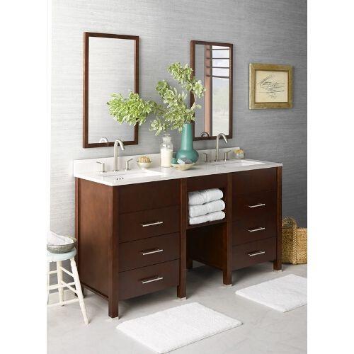 ronbow kali double vanity bathroom vanity dark cherry wide