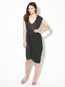 Marion Marled jersey drape dress. casual cool