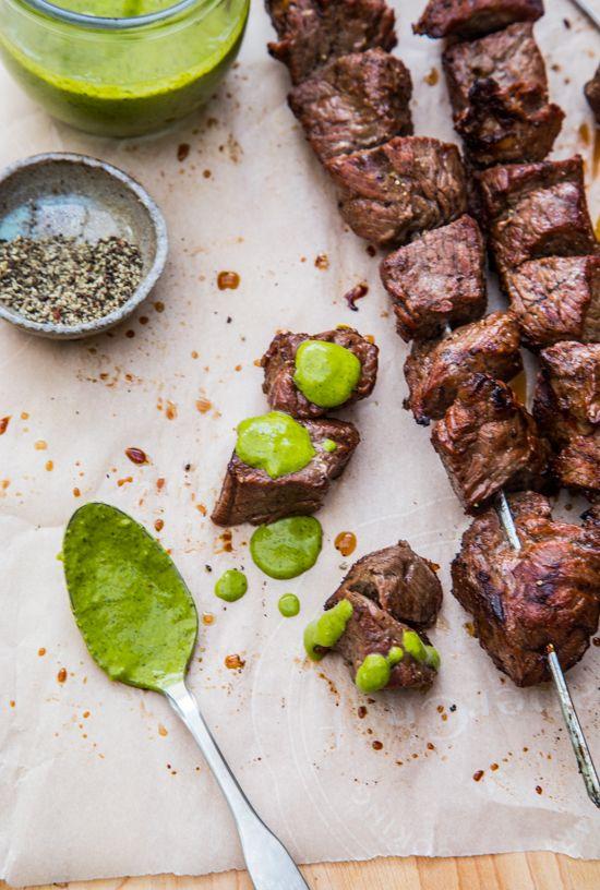 Steak Skewers with Chimichurri