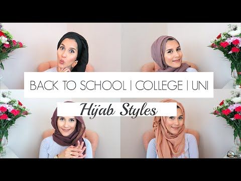 BACK TO SCHOOL | COLLEGE & UNI HIJAB STYLES! - includes her turban style and the extra scarf around neck looks too