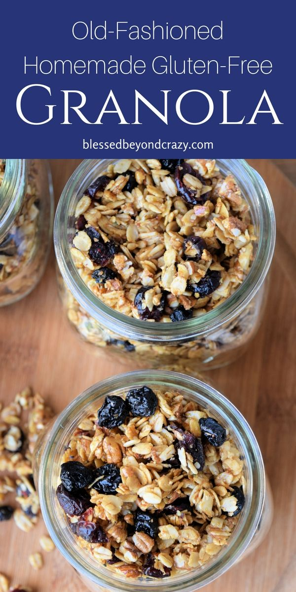 Delicious, healthy & a great DIY homemade gift! @blessedbeyondcrazy.com #granola #glutenfree