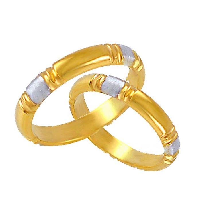 V85-N-35ΔΧ Χρυσή βέρα γάμου από 260 € το ζευγάρι.