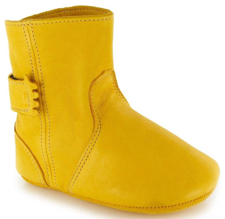 Leren pantoffel laarsje