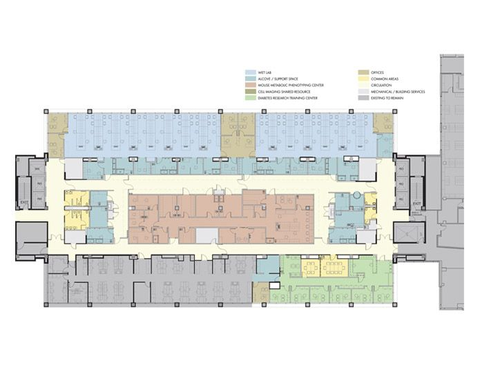 Oncology center floor plans side ymca master plan wilmot for O architecture brest