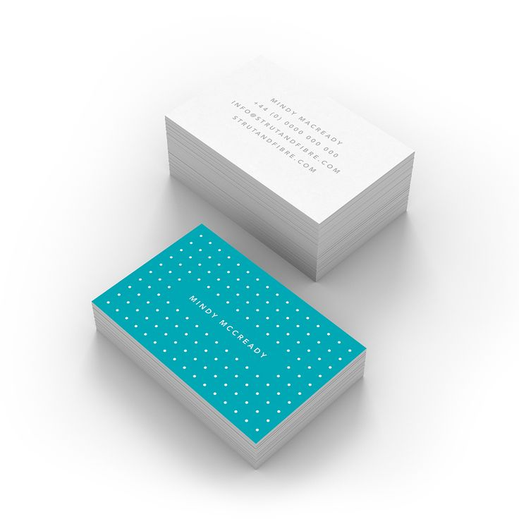 McCready – one of our Spots business card templates available to customise and order on our site.