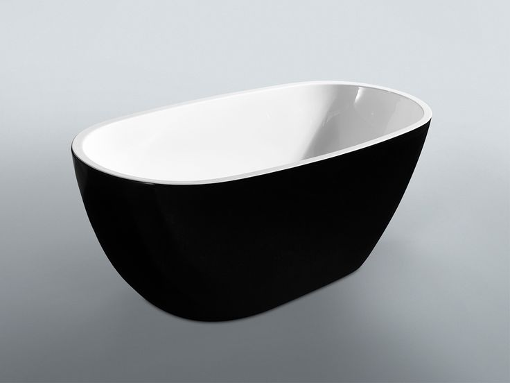 Kado Lure 1500 Petite Black Freestanding Bath