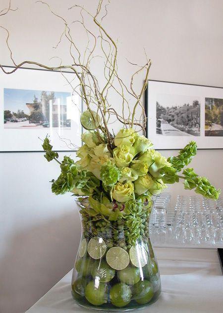 Crisp green fruit and flowers!