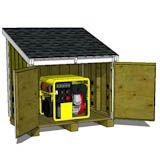 "5'-2"" x 3'-8"" Lean To Generator Enclosure Plans"