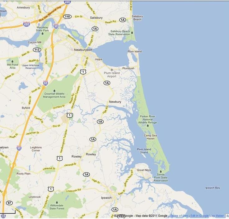 Plum Island Mass On A Map