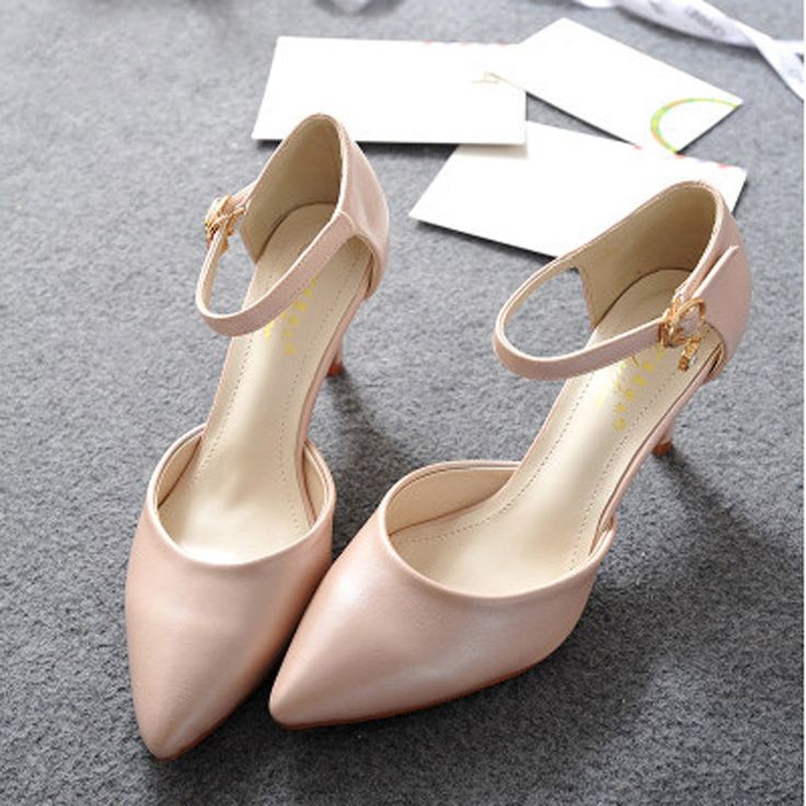 Big Size Fashion High Heels Sandals Women's Pumps Pointed Toe OL Thin Heel  Office Ladies Shoes Wedding Shoes -- This is an AliExpress affiliate pin.