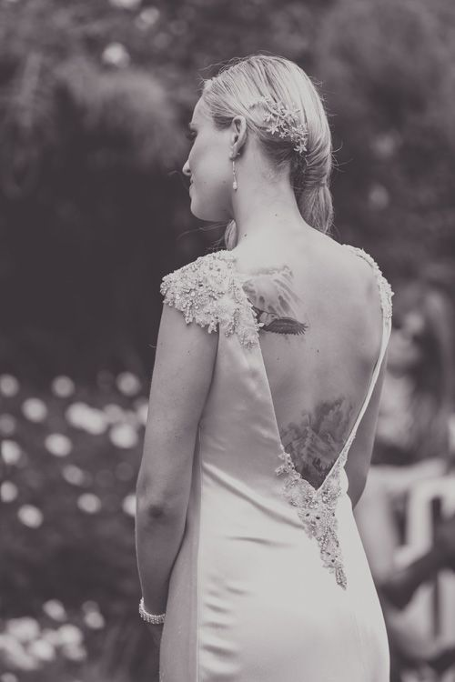 Beautiful open backed gown | Garden Wedding | Astra Bride Heleina | Maggie Sottero Gown |