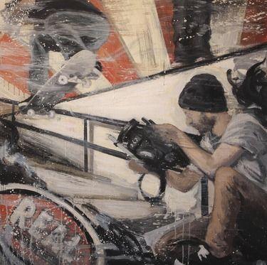 "Saatchi Art Artist Kjetil Jul; Painting, ""Video days"" #art"
