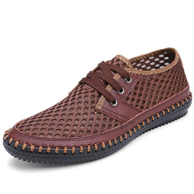 Drop Ship Breathable Men's Casual Shoes Summer Shoes 2017 Fashion  Breathable Mesh Shoes Zapatos Hombre Plus