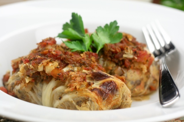 vegetarian cabbage rolls (these sound amazing!  Can't wait to try!)