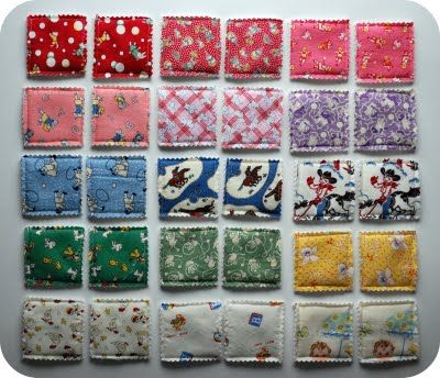 memory game using fabric - great use for fabric scraps