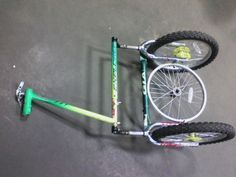 Bike trailer made from used bike parts