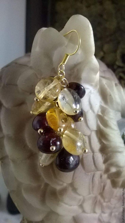 """Earrings """"Sultry summer"""" made by Natalia with our citrine . https://www.livemaster.ru/item/20927231-ukrasheniya-serezhki-iz-tsitrina-i-granataznojnoe-leto"""