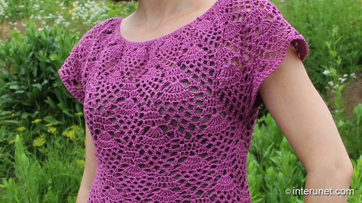Crochet pineapple stitch blouse - Part 2 of 2