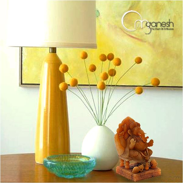 Ganeshas emits mellow vibes in the blends of yellow. #Lord #FengShui #Interior #Decor