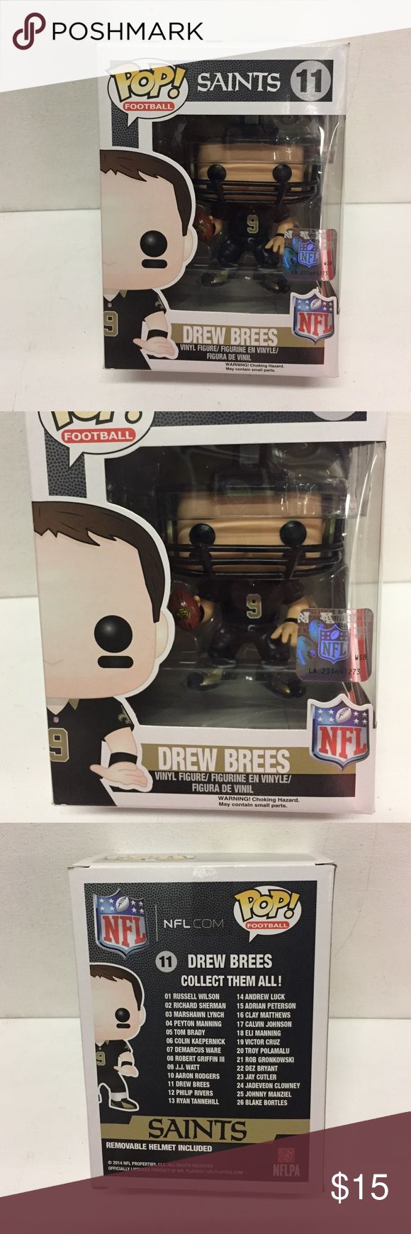 Funko pop NFL Saints Drew Brees vinyl figure Funko pop NFL Saints Drew Brees vinyl figure new in good condition funko Other