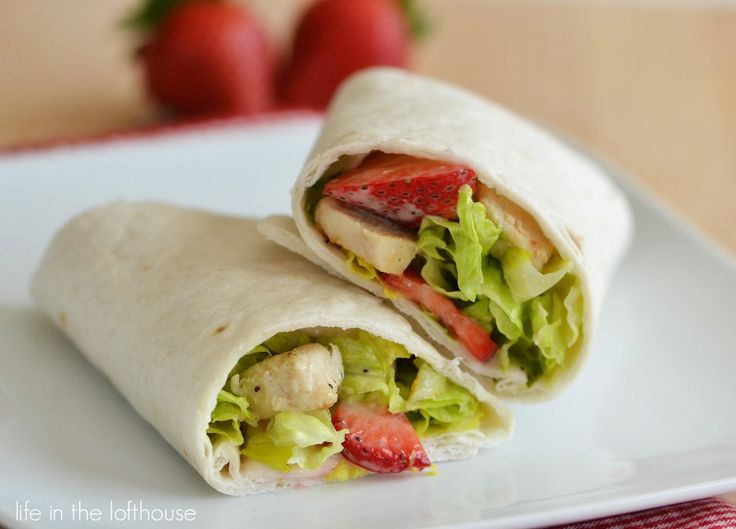 Strawberry Chicken Wraps — this uses my favorite dressing.  I LUUUV Poppy seed …