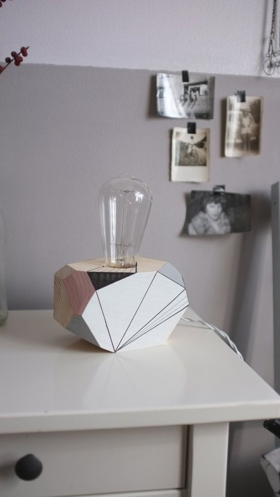 Geometric lighting  wooden table lamp  Auriga by by Polymorphics
