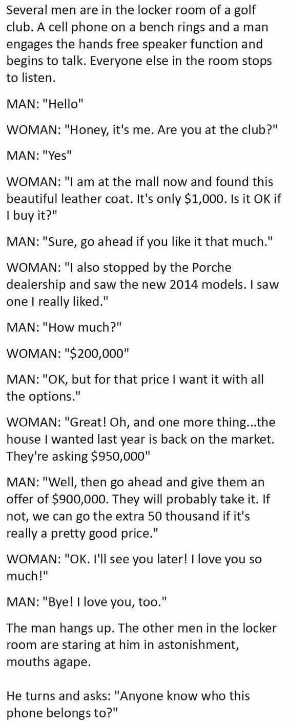 A Rich Woman Thought She Had The Perfect Husband Then This Happened funny quotes quote jokes story funny quote funny quotes funny sayings joke humor