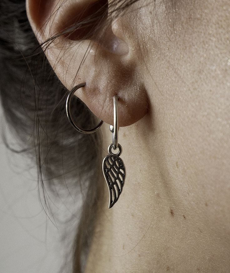 Feather Together Earrings - Handmade  by myfashionfruit.com