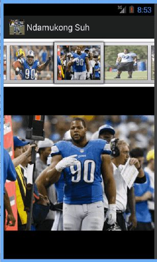 Ndamukong Suh Wallpapers is a collection of HD wallpaper photos of Ndamukong Suh.<p>Features:<br>-Works offline<br>-100's of photos<p>Ndamukong Suh is an American football defensive tackle for the Detroit Lions of the National Football League (NFL). He played college football for the University of Nebraska, and earned All-American honors. He was chosen by the Lions with the second overall pick of the 2010 NFL Draft.<p>As a college senior, Suh became one of the most decorated players in…