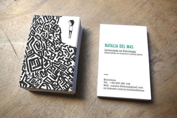 Business card for a psychologist Showcase of 30 New Business Cards of October 2013